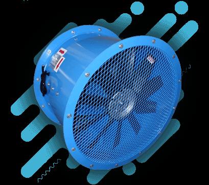 Exaustor Industrial Azul