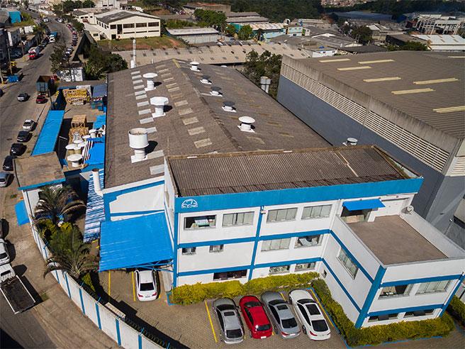 Vista aérea do prédio da Brasfaiber