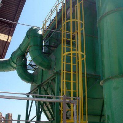 Sistema de exaustão industrial e lavador de gases